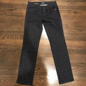 Loft Modern Straight Dark Denim Jeans